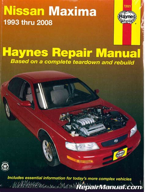 nissan maxima 1993 2008 haynes auto repair manual