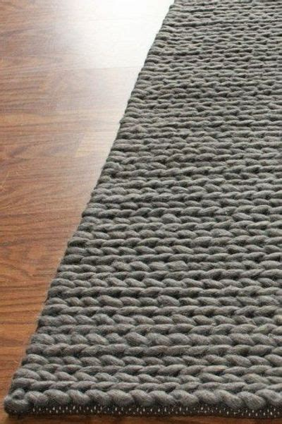 cable knit rug chunky thick cable wool rug grey knits and kits