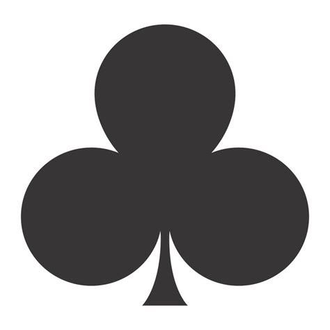 card clubs stencil standard suit of cards clubs ideas
