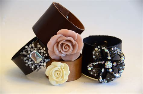 leather cuffs for jewelry diy leather bracelet business blueprints brides