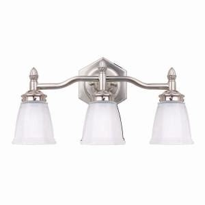 home depot bathroom lighting brushed nickel hton bay 3 light brushed nickel bath light