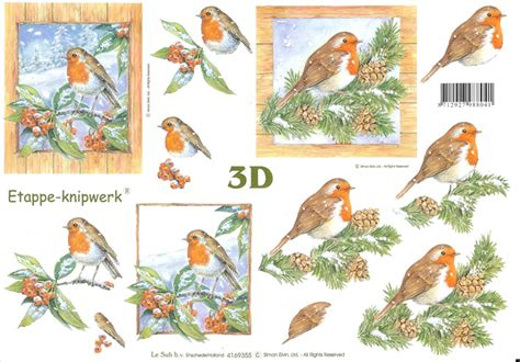 decoupage 3d pictures robin designs 3d decoupage sheet