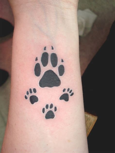 dog paw print tattoos designs ideas and meaning tattoos