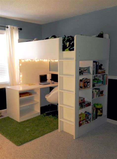 ikea loft bed 25 best bunk bed desk ideas on bunk bed with