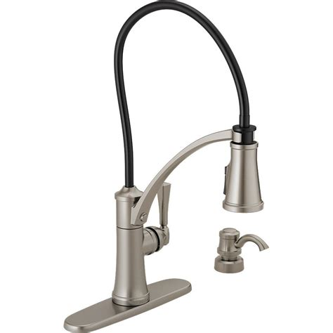 Buying A Kitchen Faucet delta foundry single handle pull down sprayer kitchen