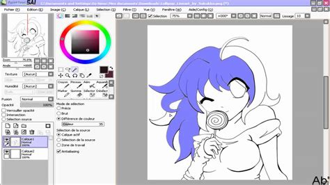 paint tool sai use how to use the magic wand paint tool sai