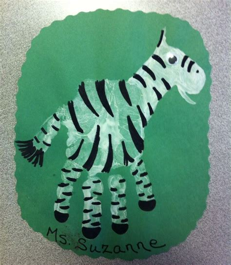 zebra craft for handprint animal crafts crafts and worksheets for