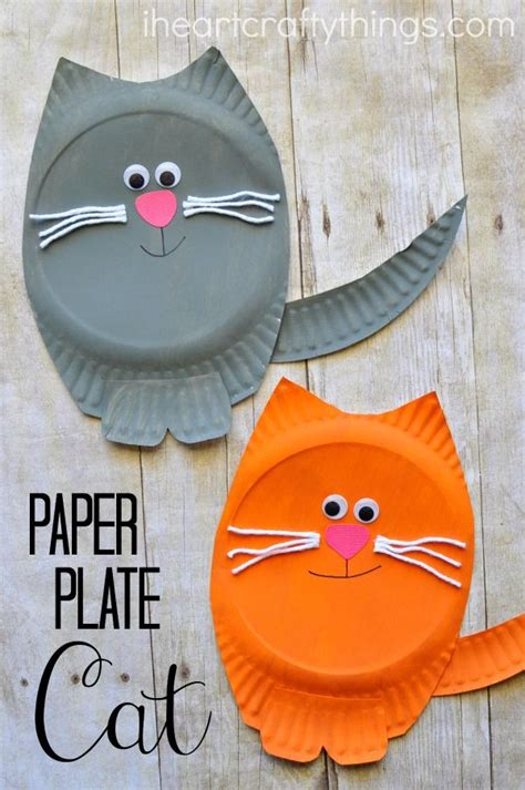 paper bag cat craft paper plate cat craft cat crafts paper plate crafts and cat
