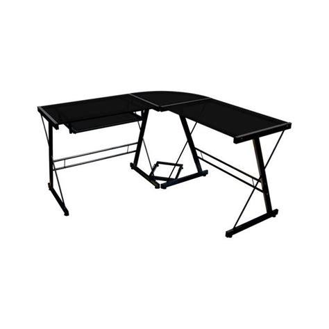 l shaped glass top computer desk corner l shaped glass top computer desk in black d51b29