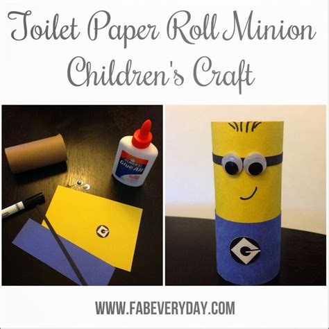 minion toilet paper roll craft 17 best ideas about minion craft on paper