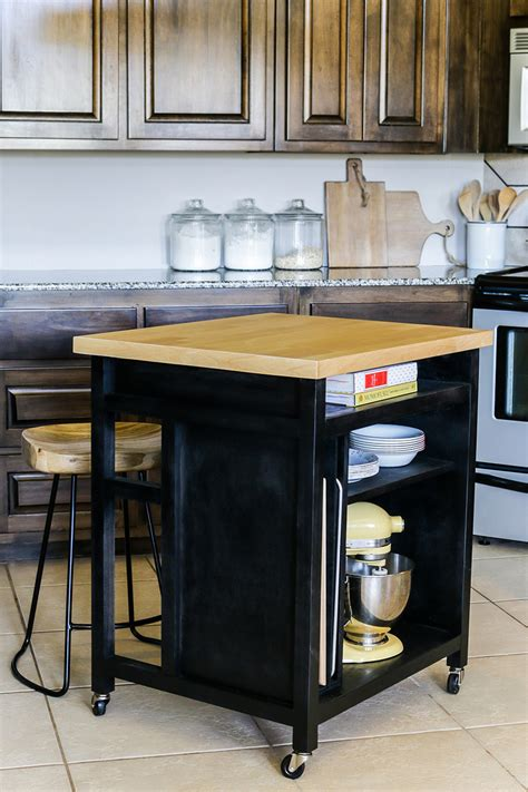 small rolling kitchen island diy rolling kitchen island