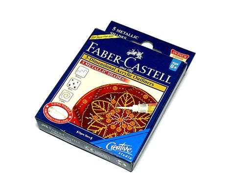 acrylic paint faber castell faber castell 3d acrylic outliners 5 metallic shades