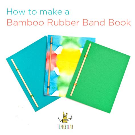 how to make your own picture book bamboo rubber band book tinkerlab