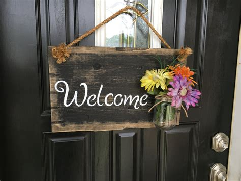 front door welcome signs front door welcome sign front porch welcome sign rustic