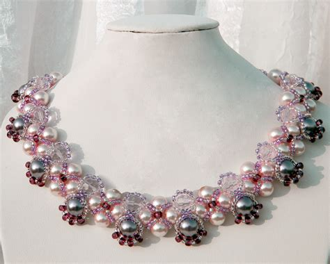 free beaded jewelry patterns free pattern for beaded necklace katherine magic