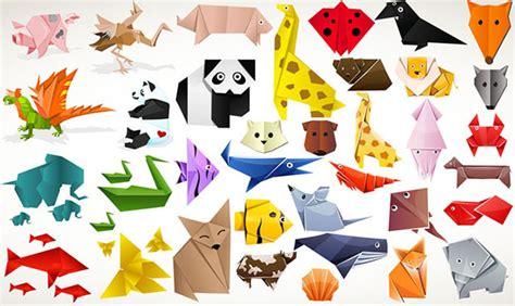 origami zoo animals animales vectorizados con estilo origami pixel