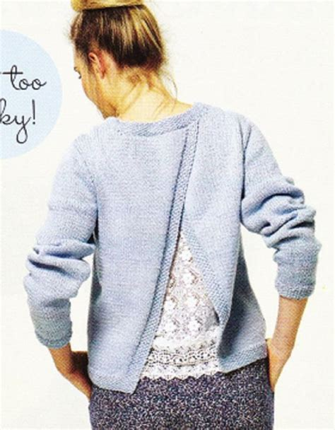 knitting patterns for sleeved cardigans prima knitting pattern ladys open back sleeve