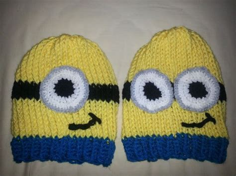 how to knit minions loom knit minion hats needles bows crafts learning
