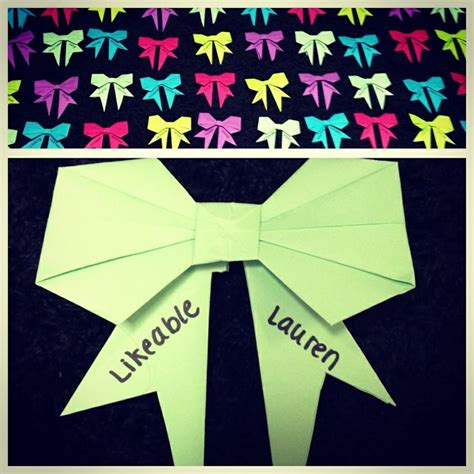 origami name tag origami bow door decs oooh name tags for my rho chi