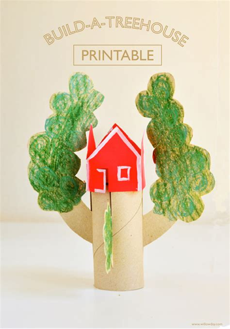 treehouse kid and craft build a treehouse printable willowday