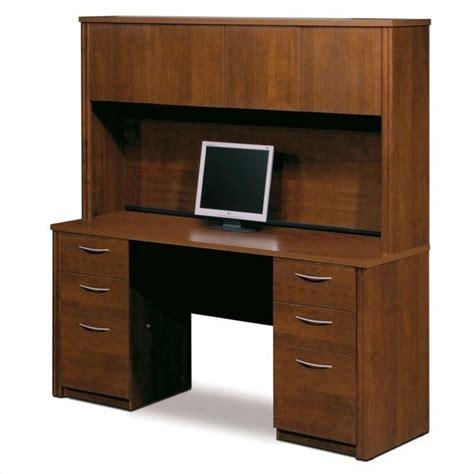 wood computer desks for home bestar embassy home office pedestal wood computer
