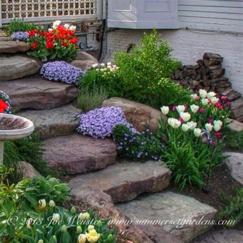 Bathroom Decorating Ideas On A Budget rustic garden steps traditional landscape new york