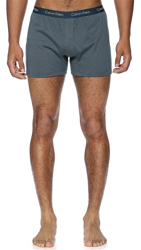 calvin klein knit boxers calvin klein knit slim fit boxers in blue for geo
