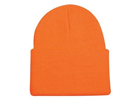 orange knit beanie outdoor cap knit beanie polyester blaze orange mpn kn 400bz