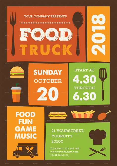 food truck flyer by infinite78910 graphicriver
