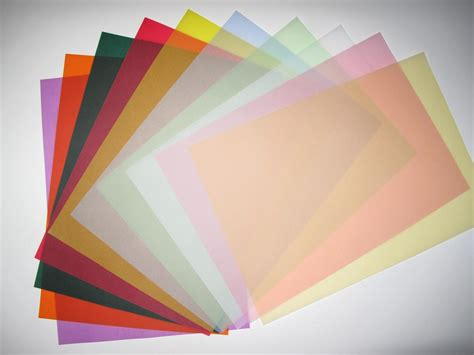 tracing paper crafts vellum coloured translucent tracing paper x 20 a4 100gsm