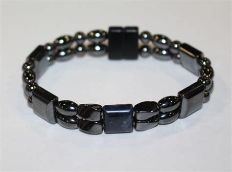 magnetic hematite magnetic hematite bracelet strand blue agate