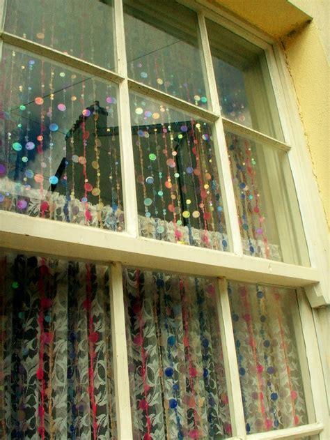 window bead glittering at the window panda s house