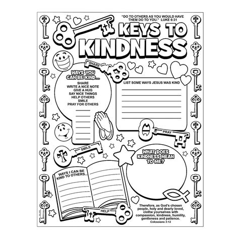 kindness crafts for color your own key to kindness posters orientaltrading