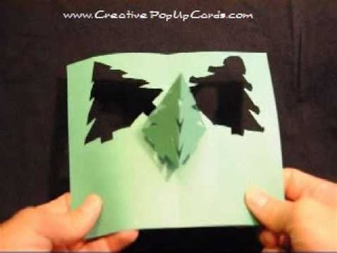 how to make a pop up tree card pop up card simple pyramid tree