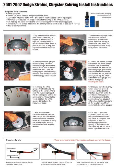best car repair manuals 2001 dodge stratus electronic throttle control 2001 2002 dodge stratus manual coupe white face gauges whitegauges net