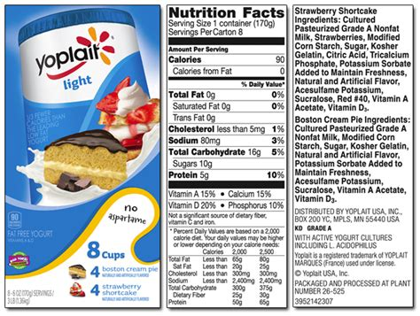 Yoplait Product List