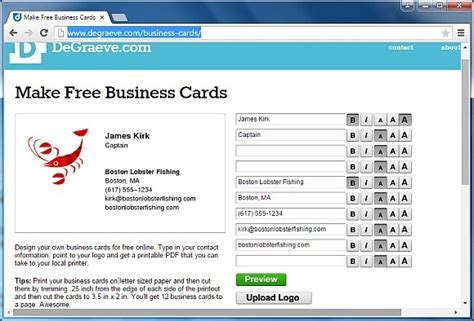 websites to make business cards for free best websites for business cards