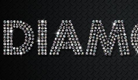 diamonds for how to create a sparkling diamonds text effect in