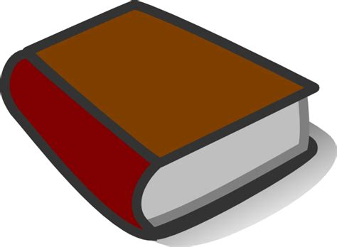 brown book pictures brown book reading clip at clker vector clip