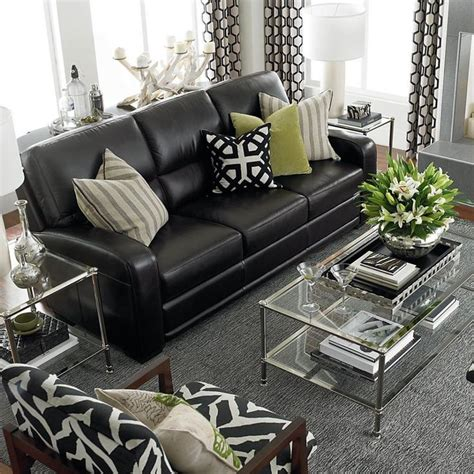 living room with black leather sofa 35 best sofa beds design ideas in uk