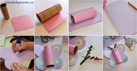 paper craft for step by step craft for toilet paper roll butterfly