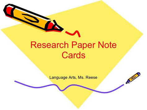 how to make research note cards research paper note cards