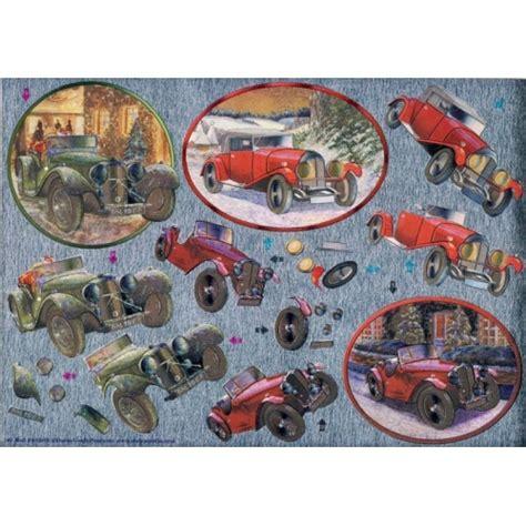 decoupage car dufex 3d decoupage sheet vintage cars
