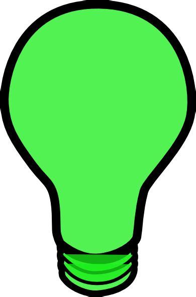 green light green lightbulb clip at clker vector clip