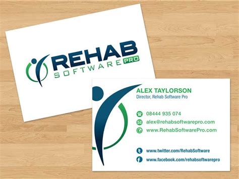 program for business cards rehab software business cards by rbryant on deviantart