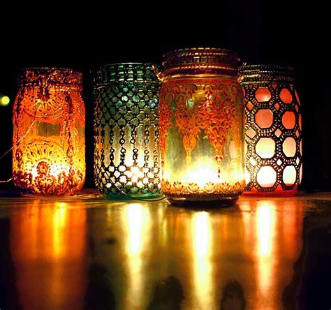 lights lanterns boho hanging lantern brilliant light aqua jar candle