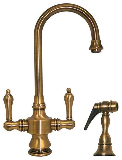 antique brass kitchen faucets vintage faucet antique brass rustic kitchen faucets