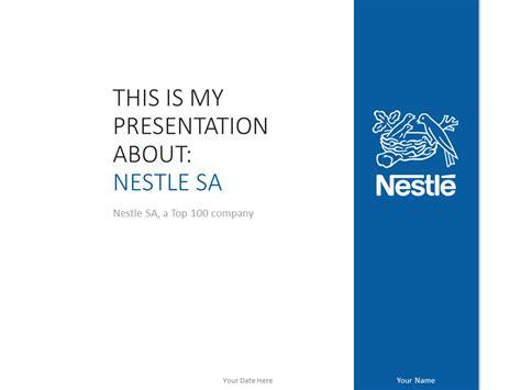 nestl 233 powerpoint template blue presentationgo com