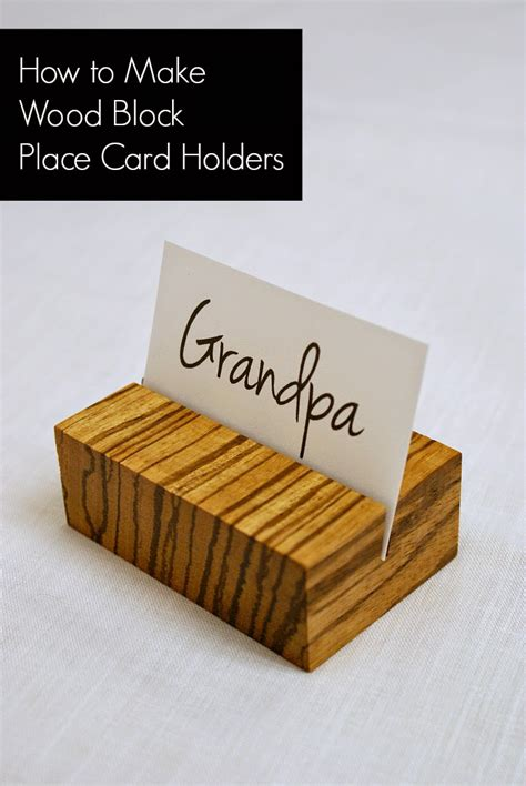 how to make a card stand acreage how to make wooden place card holders