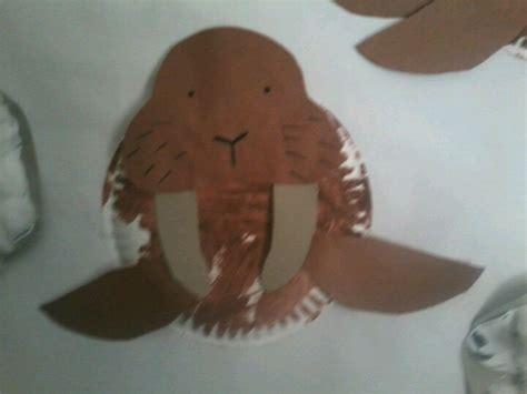 walrus paper plate craft walrus crafts ideas